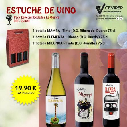 Estuche de Vino Ref 05029