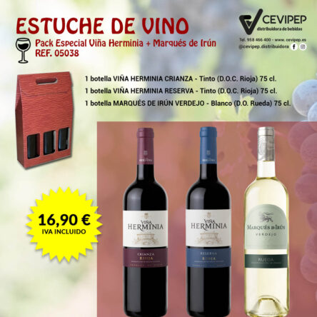 Estuche de Vino Ref 05038