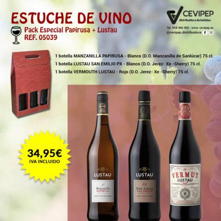 Estuche de Vino Ref 05039